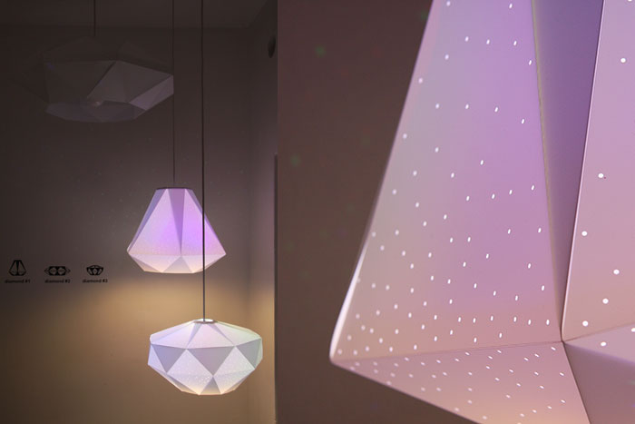 Diamonds by Dennis Parren, CMYK bulb
