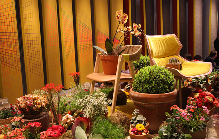 showroom of moroso by Patricia Urquiola