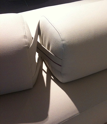 hinged cushion detail